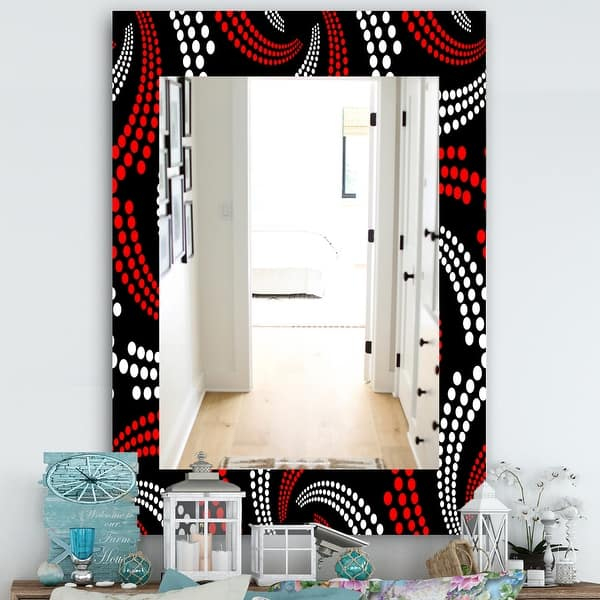 Designart Obsidian Impressions 7 Bohemian And Eclectic Mirror Frameless Vanity Mirror On Sale Overstock 28022592