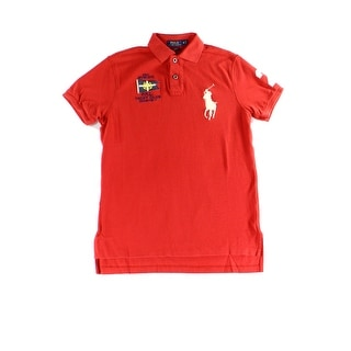 Polo Ralph Lauren NEW Red Mens XS Embroidered Short Sleeve Polo Shirt