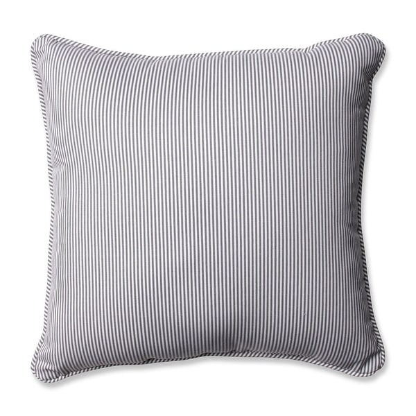 "18"" Arresting Gray Striped Square Decorative Throw Pillow"
