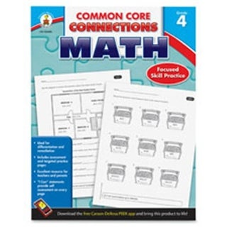 Common Core Connections Grade 4 Math Workbook, 96 Pages