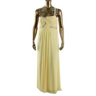 Onyx Nite Womens Embellished One Shoulder Formal Dress