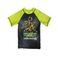 Nickelodeon Little Boys Black Green TMNT Print UPF 50+ Rash Guard