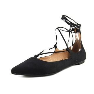 Steve Madden Lecrew Women  Pointed Toe Synthetic Black Flats