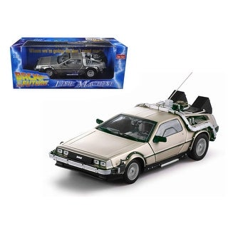 Delorean Time Machine From Movie Back To The Future I 1/18 Diecast Model Car by Sunstar