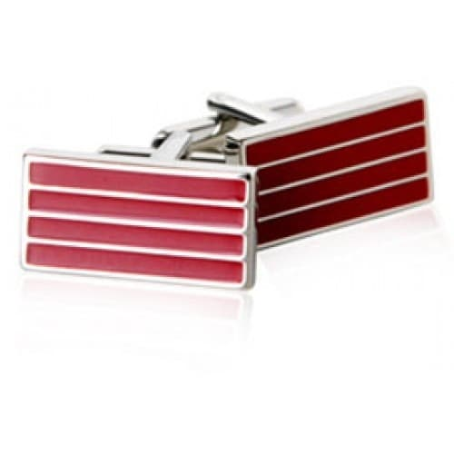Red Bar Cufflinks