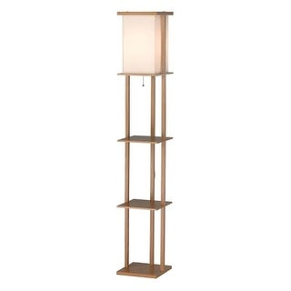 """Adesso 3451 Barbery 1 Light 22"""" Tall Column Floor Lamp with Square Shade"""