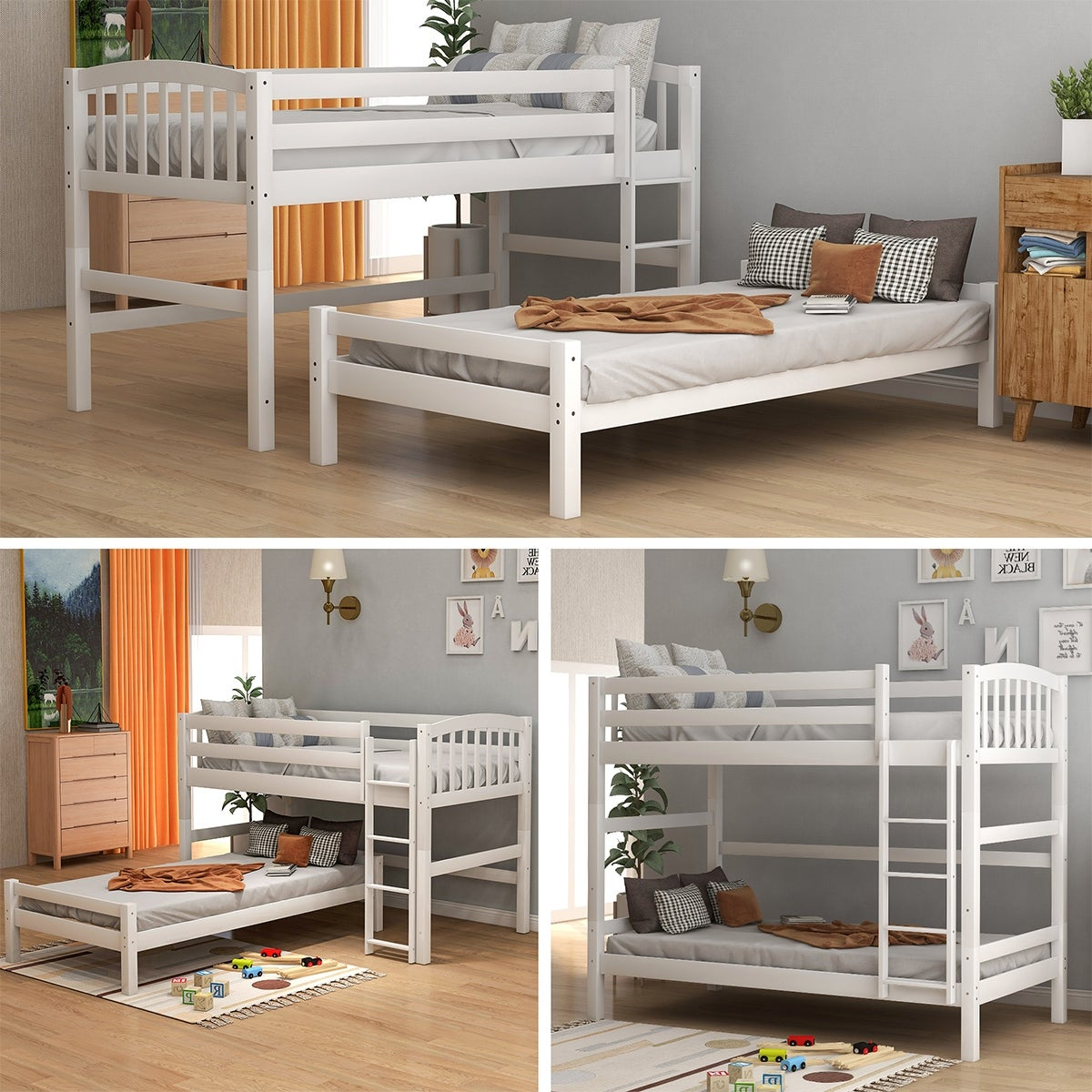 Merax Twin Over Twin Bunk Bed Twin Size Loft Bed On Sale Overstock 30897923