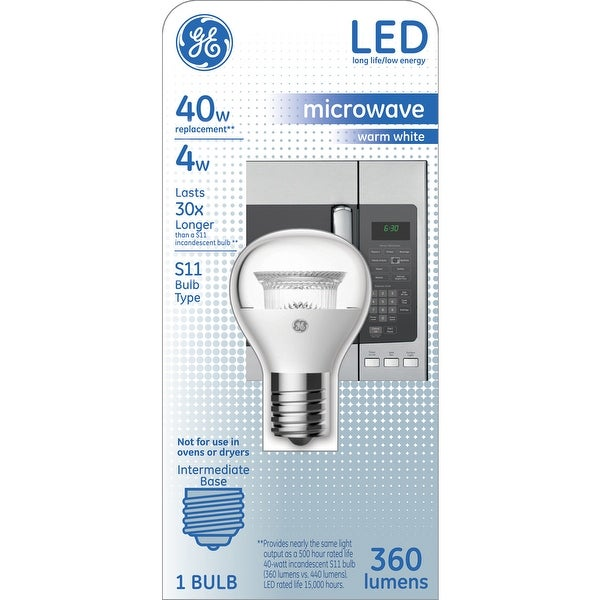 Shop Ge 29043 Clear Intermediate Base S11 Led Microwave Bulb Warm