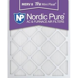 Nordic Pure 10x30x1 MERV Tru Mini Pleat AC Furnace Air Filters 12 Pack