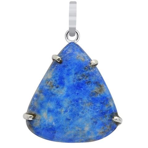 Sodalite,Serpentine,Strawberry Quartz,Sunstone Sterling Silver Pear Chain Pendant by Orchid Jewelry