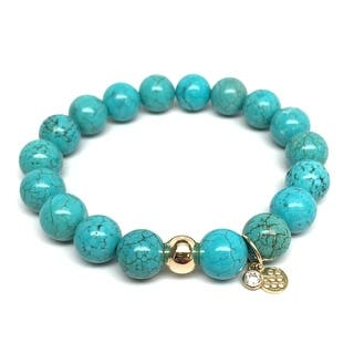 """Turquoise Magnesite Emma 7"""" Bracelet