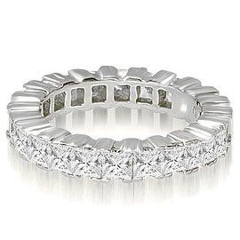 6.80 cttw. 14K White Gold Princess Prong Diamond Eternity Ring