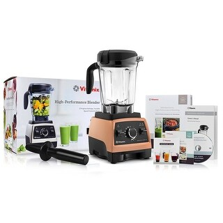 Vitamix 750 Copper Heritage G-Series Blender with 64 Ounce Container + Recipe Cookbook + DVD + QuickStart Guide + Tamper
