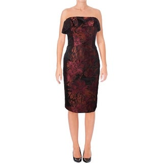Black Halo Womens Cocktail Dress Printed Strapless