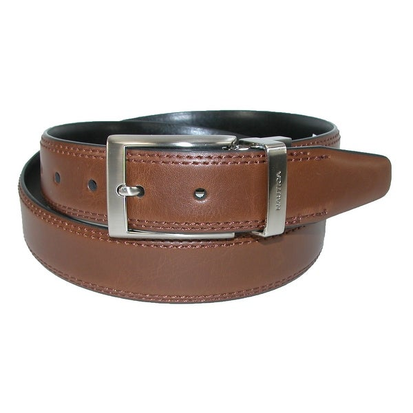 Nautica Men's Reversible Double Stitch Belt