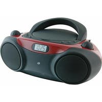 GPX CD Boombox with AM-FM Radio and 3.5mm Line Input - BC232R