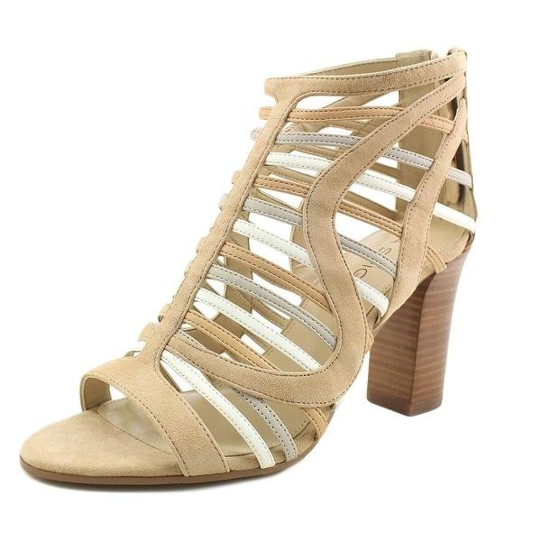 Via Spiga Fiona Sandal Women Open Toe Suede Tan Sandals