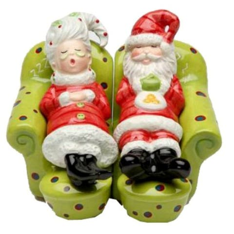 Santa and Mrs Claus Chilling On the Sofa Salt and Pepper Shaker Set