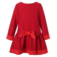 Richie House Girls Winter Red Dress with Fleece