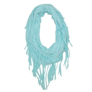 CTM® Women's Jersey Knit Fringe Infinity Loop Scarf - One size