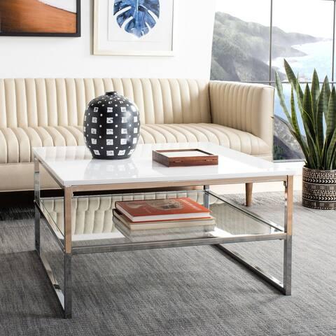 "Safavieh Randi 2-Tier Modern Glam Square Coffee Table - 30"" x 30"" x 16.5"""