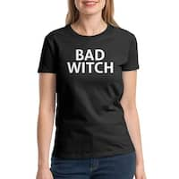 Bad Witch Funny Halloween Costume Women's Black T-shirt