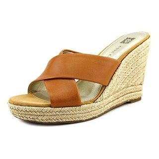 Anne Klein Waleigh Women Open Toe Leather Wedge Heel