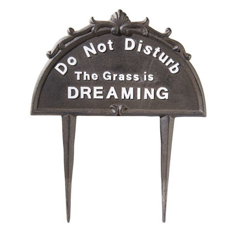 Do Not Disturb Lawn Sign - Outdoor Cast Iron Yard Stake - 10 in. x 6 in. x 12 in.
