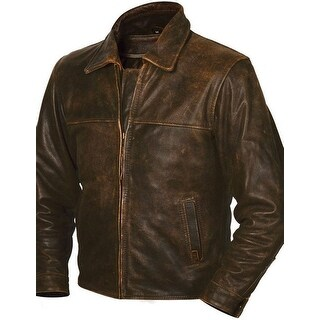 StS Ranchwear Western Jacket Mens Leather Rifleman Brown STS5473
