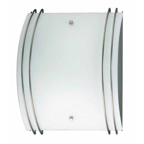 """Volume Lighting V6035 10"""" Width Wall Washer Sconce with 2 Lights and White Glass"""