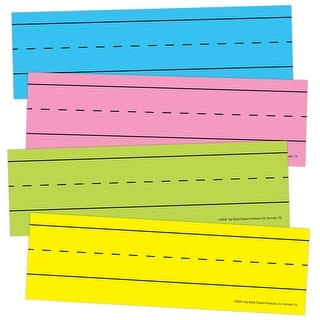 (6 Pk) Magnetic Word Strips Bright Asrtd