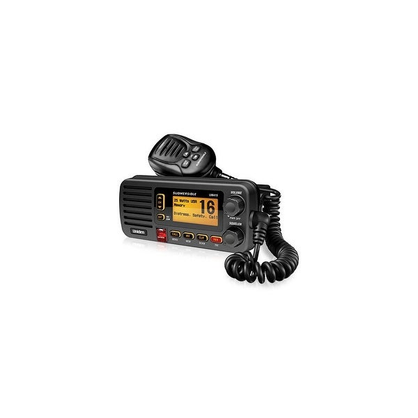 Uniden UM415BK Ultra Compact Rugged Two Way Marine Radio with Rubber Grip Mic