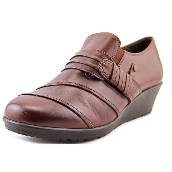 Walking Cradles Kit Women N/S Open Toe Leather Brown Wedge Heel
