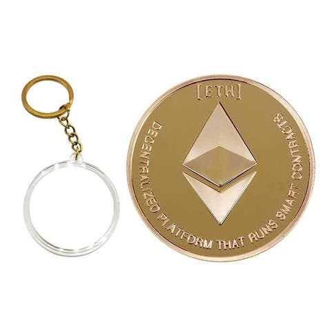 Cryptocurrency Collectors Edition 40mm Crypto Coin Keychain Capsule Se - 44mm