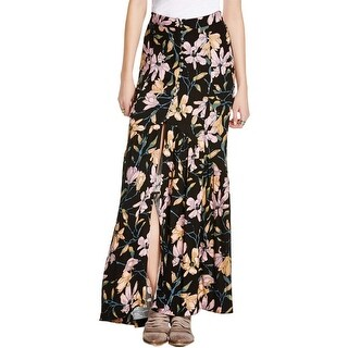 Free People Womens Juniors Maxi Skirt Floral Print High Slit