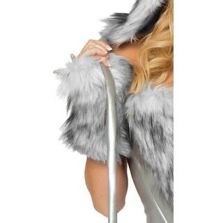 Furry Wolf Gloves, Costume Wolf Gloves
