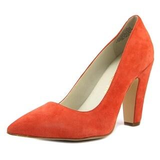 Anne Klein Hollyn Women Pointed Toe Suede Orange Heels