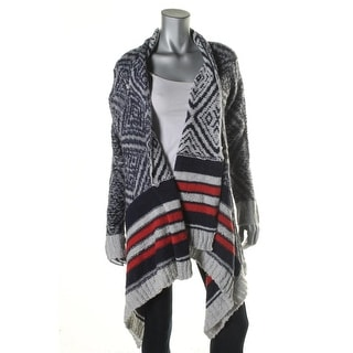 Caslon Womens Wool Open Front Cardigan Sweater