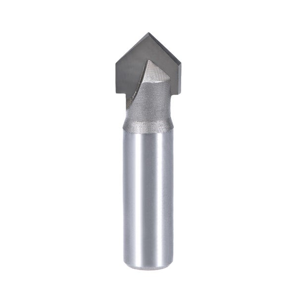 Router Bit 1/2 Shank 5/8 Dia 90 Degrees V Type End Mill, Carbide for Woodworking - 1/2x5/8""