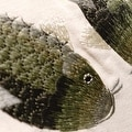 """Luxury Green Fish Embroidered Pillow 18""""X18"""" - Thumbnail 1"""