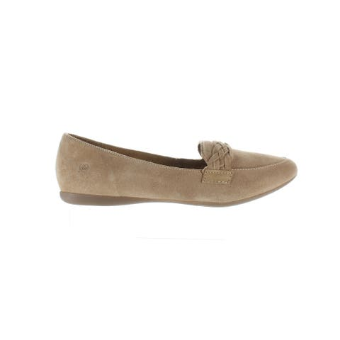 Born Womens Mirror Tan Loafers Size 10