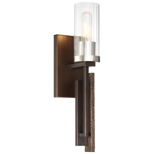 Minka Lavery 4600 Maddox Roe Single Light 18 Tall Wall Sconce With Fluted Gl Free Shipping Today 26755456