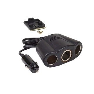 Wireless Solutions Vehicle Cigarette Lighter Power Adapter, 3 Sockets, 4' Cord