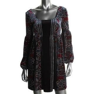 Free People Womens Velvet High Waist Casual Dress - M
