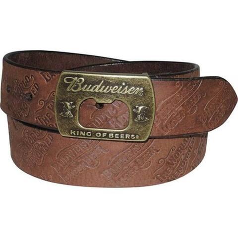 Buxton Men's Budweiser Lager Belt Brown