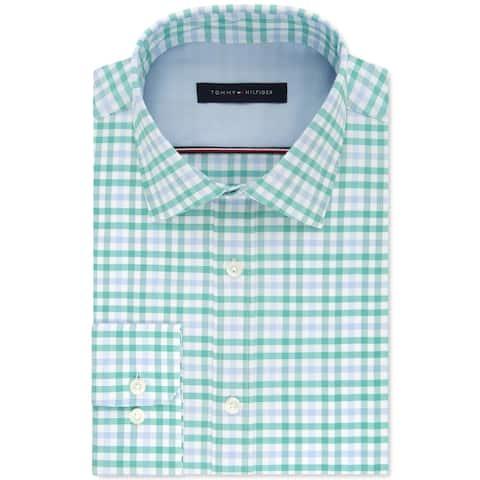 Tommy Hilfiger Mens Button-Down Shirt Woven Plaid