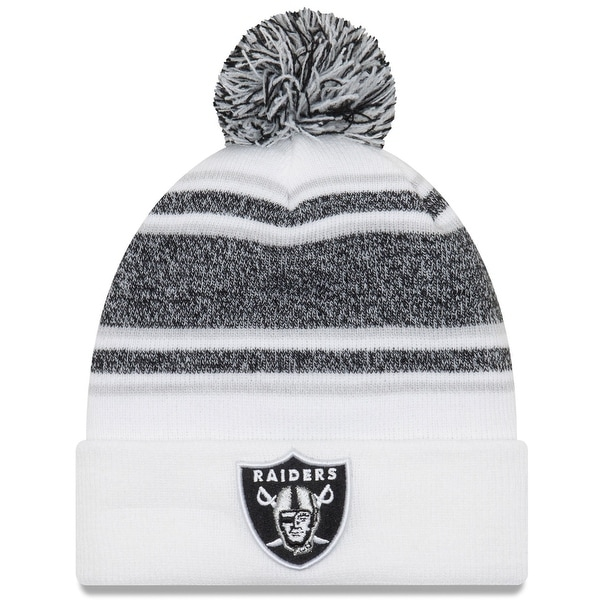 0acedc4c5 ... where can i buy new era mens oakland raiders knit hat pom beanie  stocking cap white