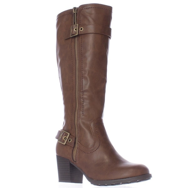 White Mountain Dover Harness Knee High Boots, Cognac