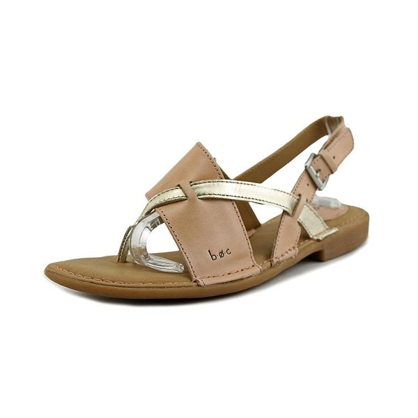 B.O.C Womens Lowery Leather Split Toe Casual Slingback Sandals