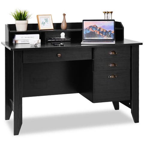 Costway Computer Desk PC Laptop Writing Table Workstation Student